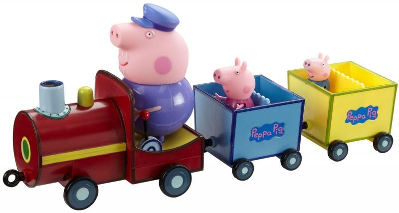 Игровой набор Peppa Pig Паровозик дедушки Пеппы, со звуком 4 предмета 15563 игровой набор peppa pig игровой набор паровозик дедушки пеппы со звуком