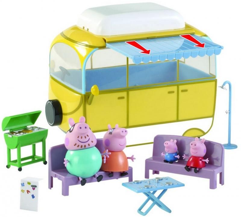 Игровой набор Peppa Pig Кемпинг Пеппы 7 предметов 19070 набор игровой peppa pig 10 см