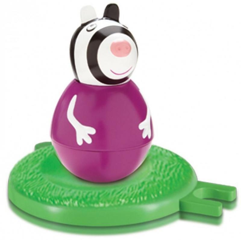 Фигурка Peppa Pig неваляшка зебра Зои 2 предмета 28807 игровой набор peppa pig пеппа и зои 2 предмета 28814