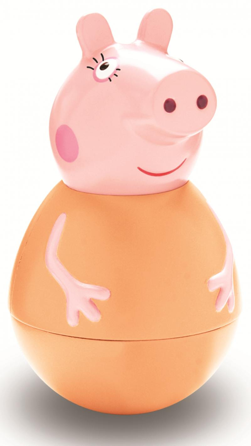 Фигурка Peppa Pig неваляшка Мама Пеппы 28797 всё для лепки свинка пеппа peppa pig набор для лепки на даче у пеппы