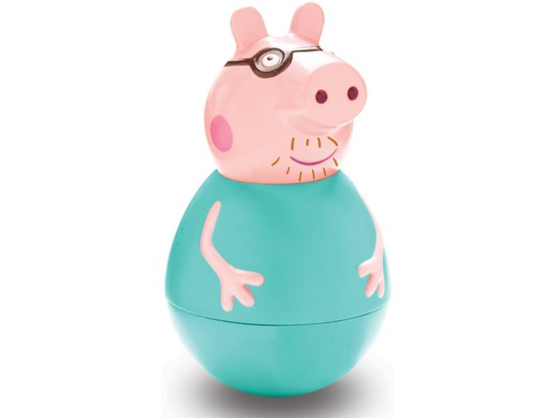 Фигурка Peppa Pig неваляшка Папа Пеппы 28798 всё для лепки свинка пеппа peppa pig набор для лепки на даче у пеппы