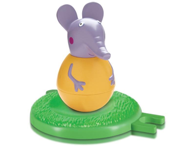 Фигурка Peppa Pig неваляшка слоник Эмили 2 предмета 28804 фигурка peppa pig неваляшка дедушка пеппы 28800