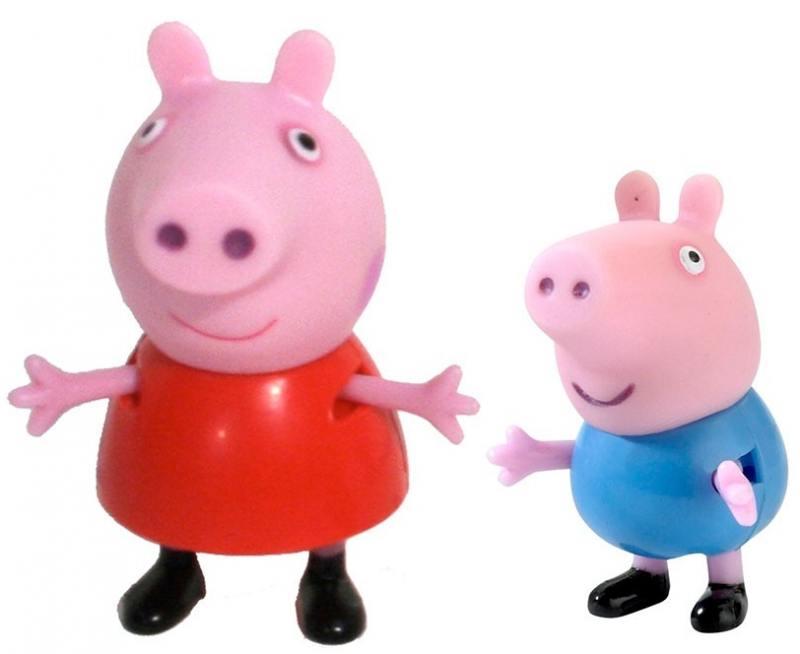 Игровой набор Peppa Pig Пеппа и Джордж 2 предмета 28813 игровые наборы свинка пеппа peppa pig игровой набор пеппа и кенди