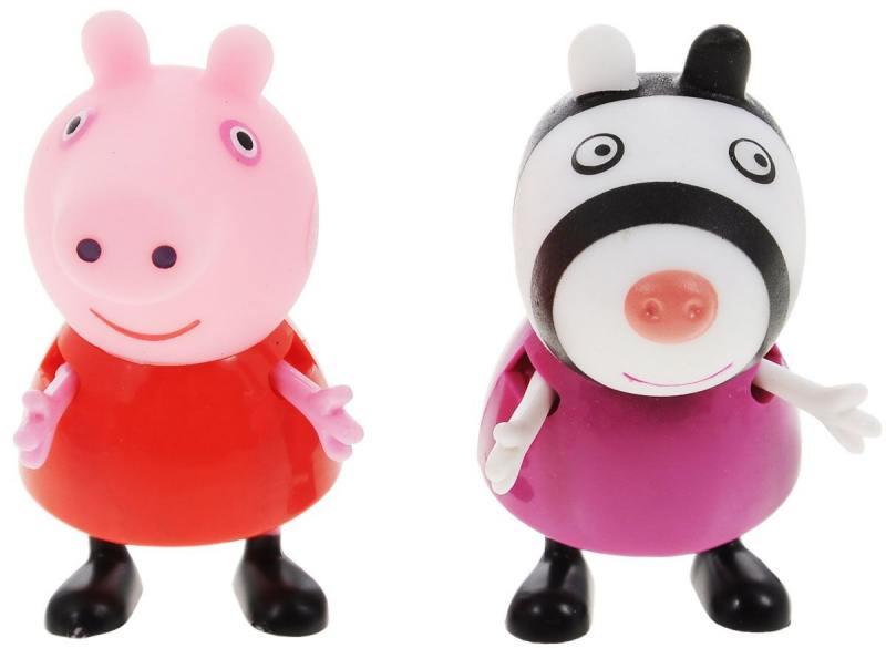 Игровой набор Peppa Pig Пеппа и Зои 2 предмета 28814 игровые наборы свинка пеппа peppa pig игровой набор пеппа и кенди
