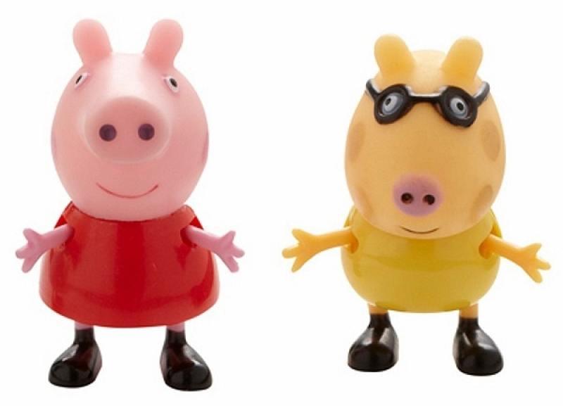 Игровой набор Peppa Pig Пеппа и Педро 2 предмета 28817 peppa pig игровой набор пеппа и джордж