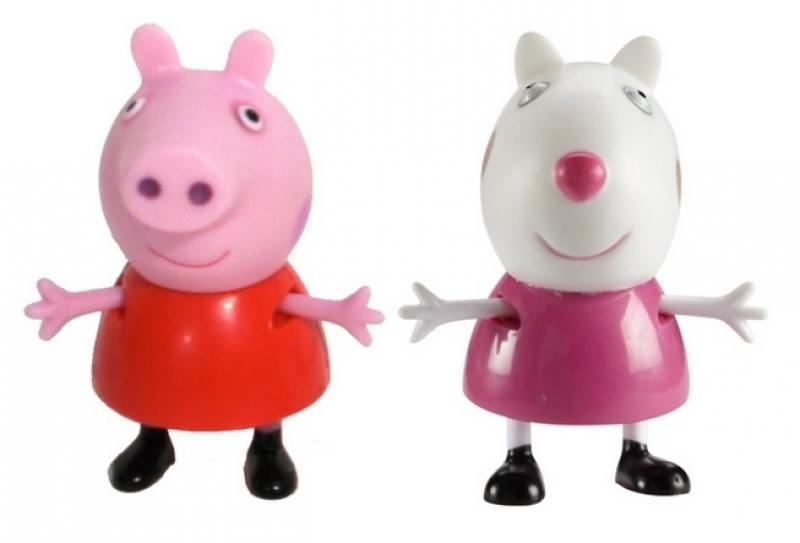 Игровой набор Peppa Pig Пеппа и Сьюзи 2 предмета 28816 игровой набор peppa pig пеппа и зои 2 предмета 28814