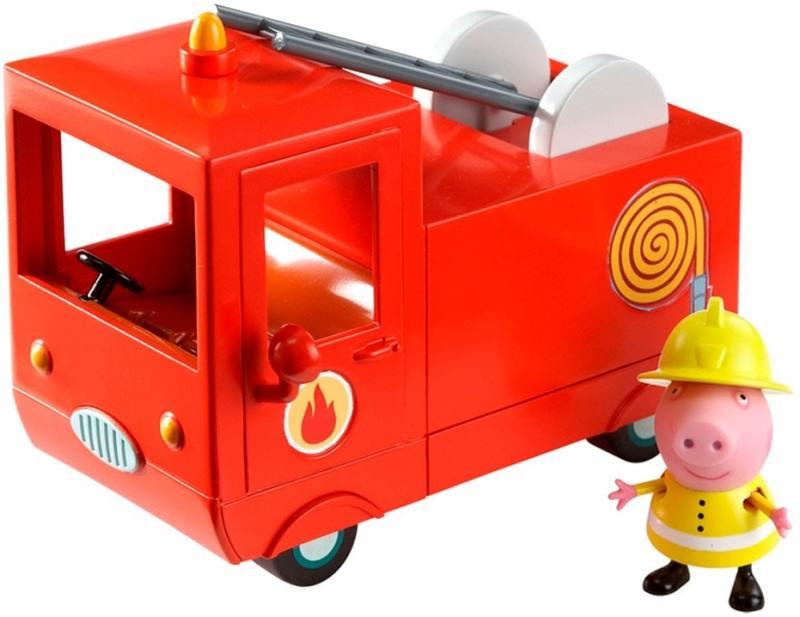Игровой набор Peppa Pig Пожарная машина Пеппы 2 предмета 29371 peppa pig игровой набор спортивная машина 24068 4 фигурки