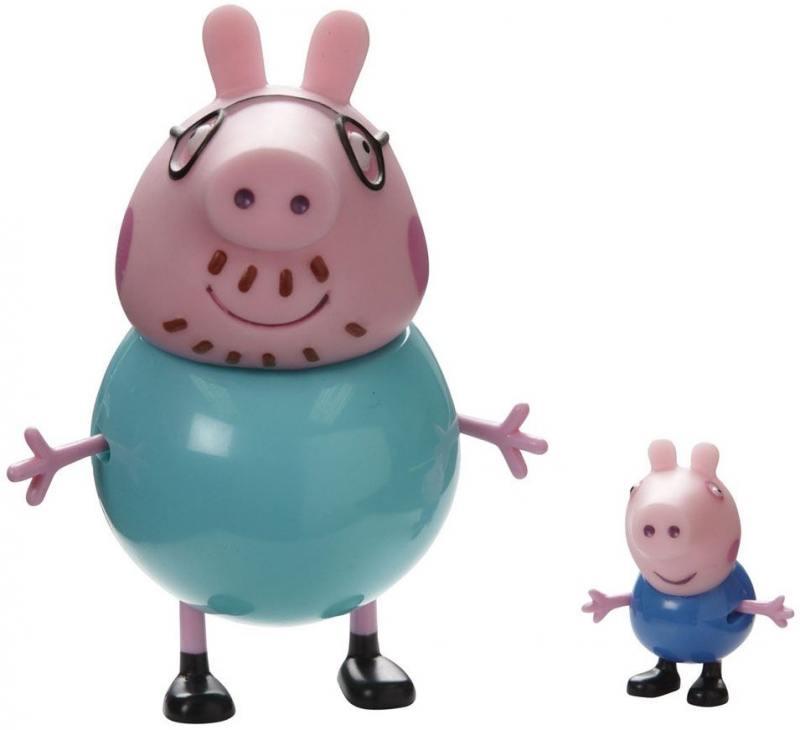 Игровой набор Peppa Pig Семья Пеппы Папа Свин и Джорж 2 предмета 20837 peppa pig транспорт 01565