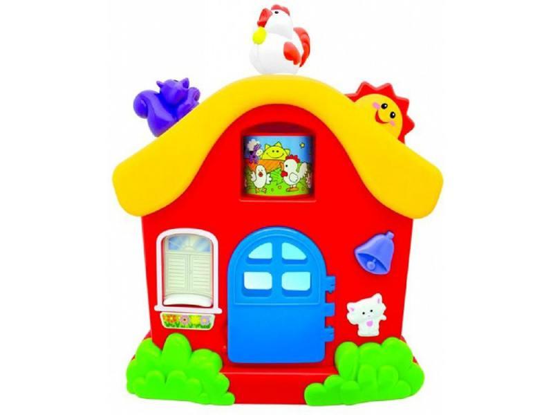 Интерактивная игрушка Kiddieland Домик от 1 года разноцветный KID 051466 интерактивная игрушка beezeebee сова от 1 года разноцветный вее019