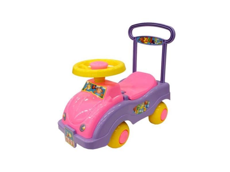 Каталка-машинка Совтехстром Автомобиль для девочек пластик от 1 года розовый У447