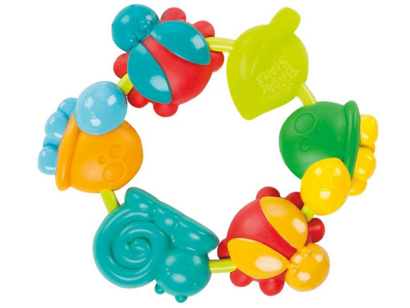 Прорезыватель Bright Starts Веселый хоровод с 3 месяцев разноцветный 52028 игрушка bright starts веселый жирафик