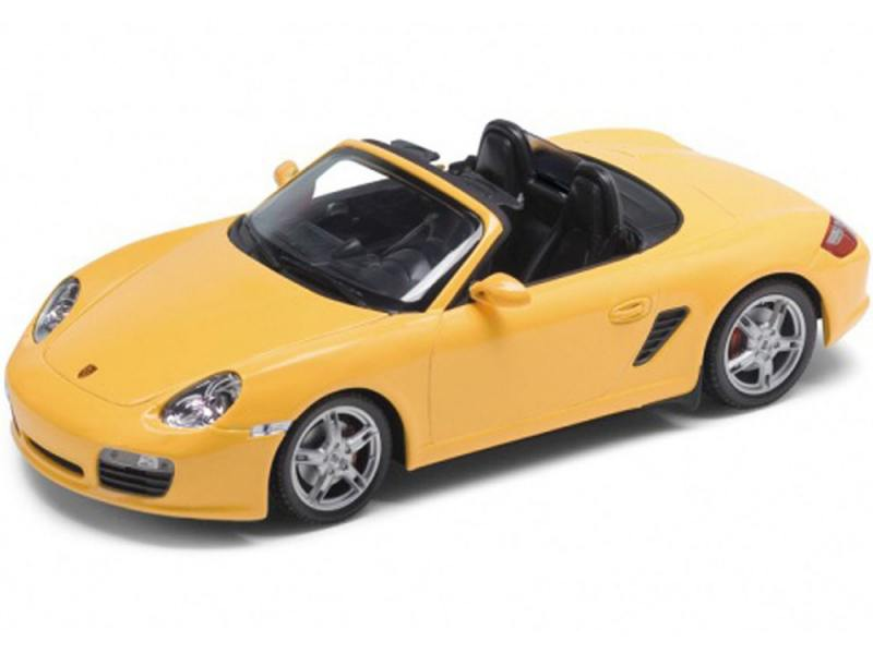 Автомобиль Welly Porsche Boxster S, convertible 1:24 желтый 22479W автомобиль welly porsche cayman s 1 24