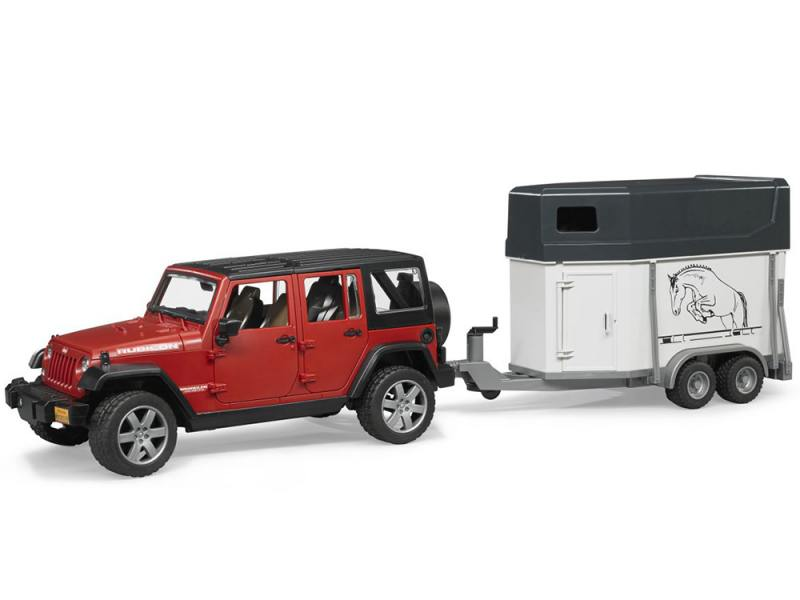 Автомобиль Bruder Jeep Wrangler Unlimited Rubicon c прицепом-коневозкой 1:16 02-926