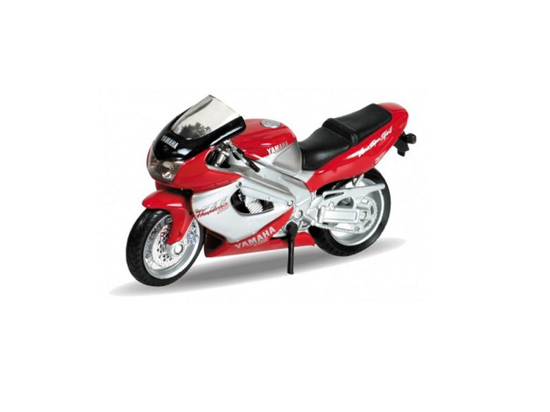 Мотоцикл Welly Yamaha 2001 YZF1000R Thunderace 1:18 12154P custom moto full fairings for yamaha yzfr6 1998 1999 2001 2002 black motul yzf r6 98 99 01 02 yzf600 fairing aftermarket parts