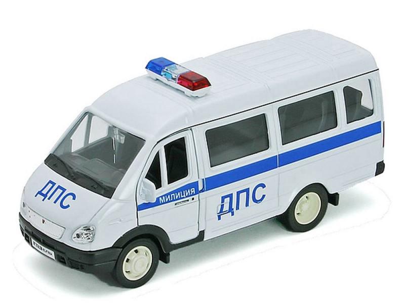 Полицейская машина Welly Газель ДПС 1 шт 19 см белый 42387APB welly welly набор служба спасения пожарная команда 4 штуки