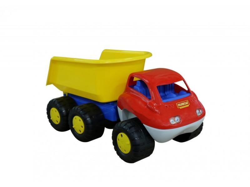 Машинка Полесье Автомобиль-самосвал с прицепом Дакар 46116