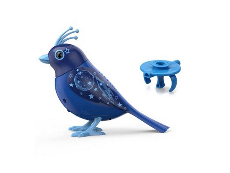 Интерактивная игрушка Silverlit DigiBirds синяя грудка Птичка с кольцом от 3 лет разноцветный 88286 silverlit digibirds пингвин фигурист с кольцом серый