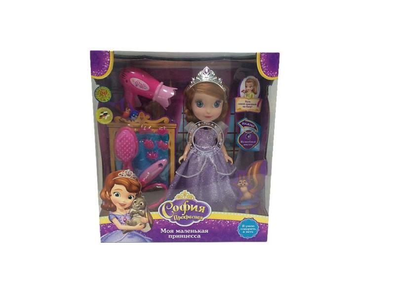 Купить Кукла Карапуз Disney Принцесса София с набором для волос 25 см поющая говорящая SOFIA007, Игрушки