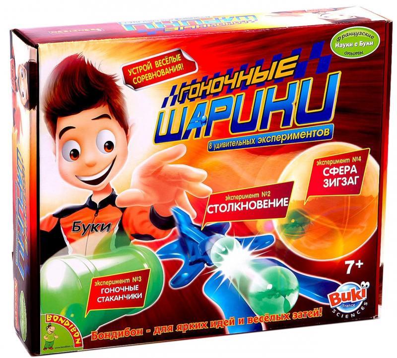 Игровой набор Bondibon Гоночные шарики - французские научно-познавательные опыты Науки с Буки ВВ1114