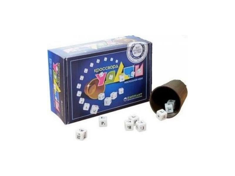 Настольная игра Биплант Кроссворд Удачи (синий) биплант настольная игра смухлюй