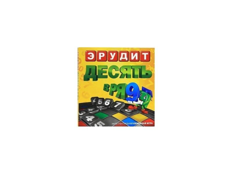 Настольная игра Биплант Эрудит Десять в ряд