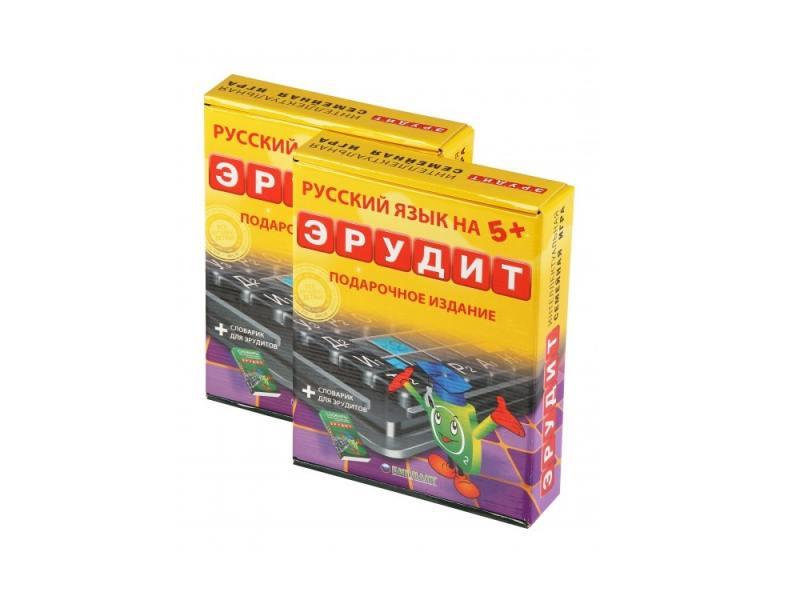 Настольная игра развивающая Биплант Эрудит Подарочный набор 10008 биплант биплант настольная игра эрудит easy english подарочный