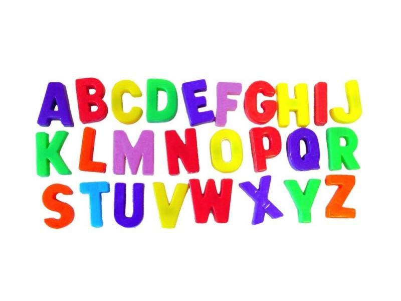 Купить Магнитная игра развивающие Miniland Магнитные буквы заглавные 64 элемента 97925, Игрушки