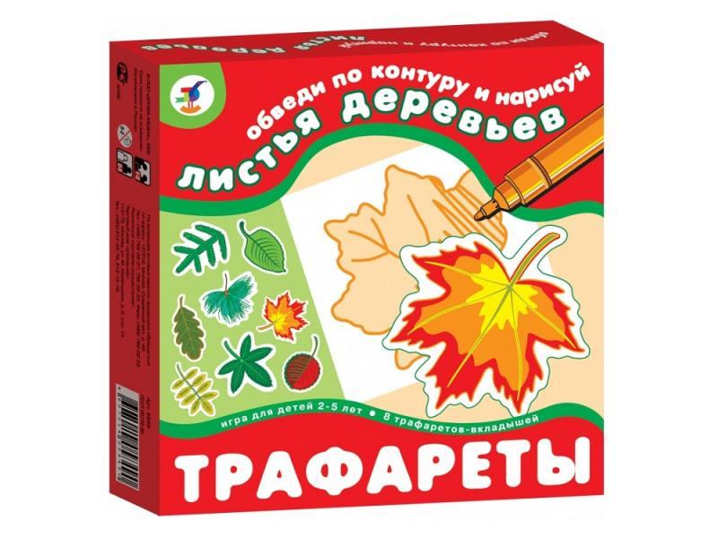 Картинка для Настольная игра развивающая ДРОФА Трафареты. Листья деревьев 1368