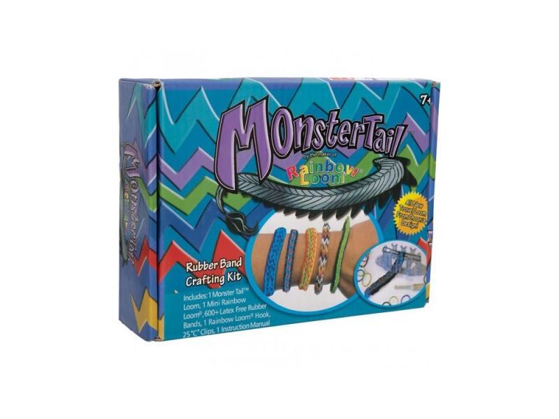 Набор для плетения Rainbow Loom Monster Tail 600 шт 21379 loom bands набор резинок для плетения бутылочка