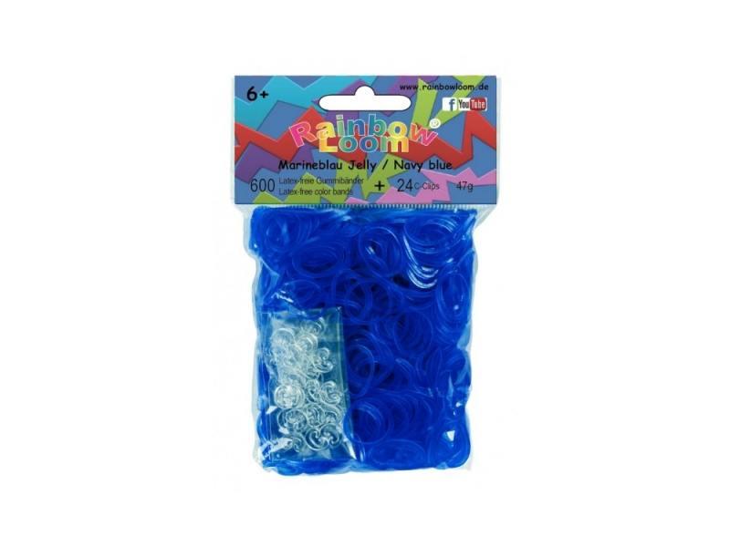 Резинки для плетения Rainbow Loom гелевые Темно-синий 20884 600 шт наборы для поделок loom bands резинки для плетения
