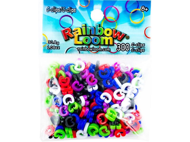 С-клипсы для плетения Rainbow Loom 2127 300 шт с клипсы rainbow loom для плетения браслетов из резиночек rainbow loom