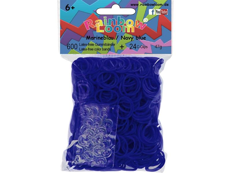 Резинки для плетения Rainbow Loom Тёмно-синий 22130 600 шт резиночки для плетения браслетов rainbow loom мармелад микс rainbow loom