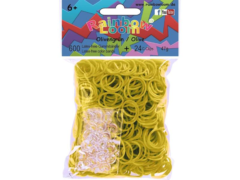 Резинки для плетения Rainbow Loom Оливковый 20907 600 шт
