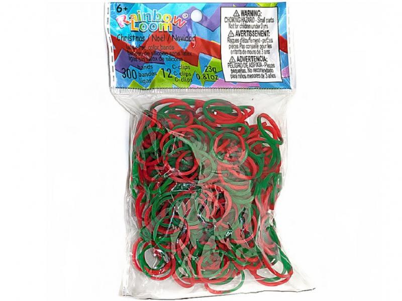 Резинки для плетения Rainbow Loom Силикон Рождество 0552 300 шт набор для детского творчества резинки rainbow loom неоновые цвет зеленый средневековье medieval neon