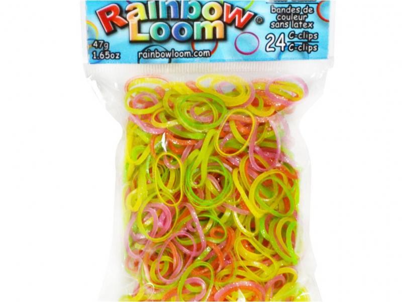 Резинки для плетения Rainbow Loom Сладкая вата Леденцы 2175 600 шт с клипсы rainbow loom для плетения браслетов из резиночек rainbow loom