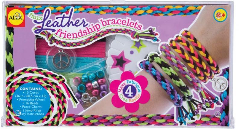 Набор для плетения Alex Плетем браслеты-фенечки из кожаных шнурков 124L alex набор браслеты бро