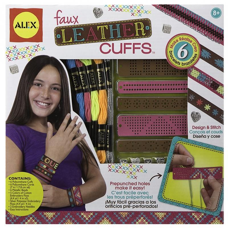 Набор для украшений Alex Создание кожаных браслетов-манжеток 1721 игровой набор alex alex шнуровка веселая ферма