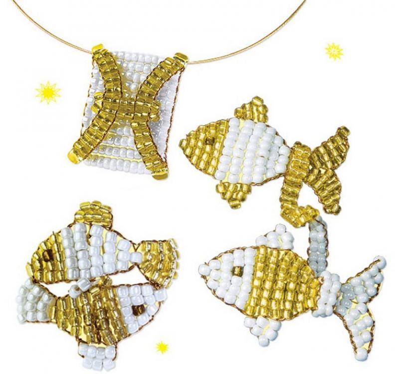 купить Набор для творчества Клевер Знаки Зодиака - Рыбы 07-042 по цене 100 рублей