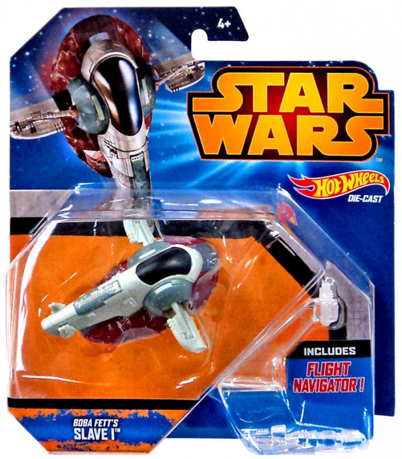 Звездолет Mattel Hot Wheels Star Wars Boba Fett's Slave I CGW52 фломастеры mattel фломастеры mattel hot wheels 24 цвета