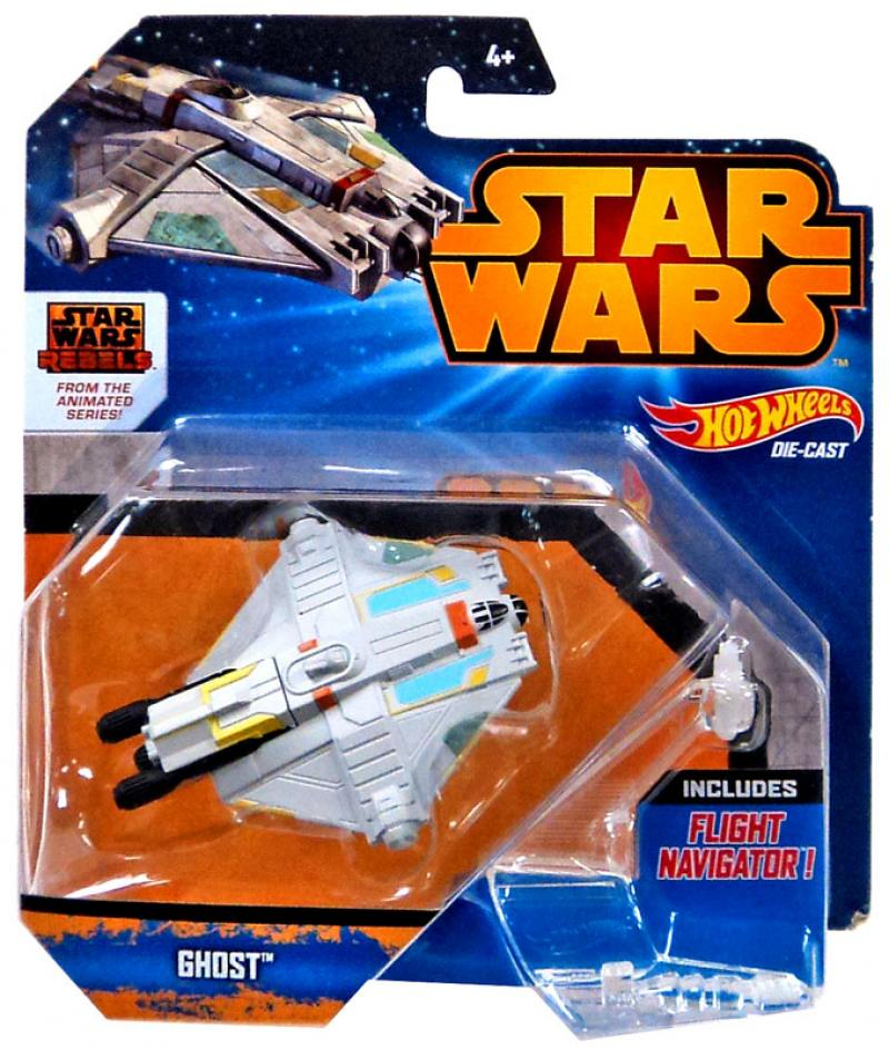 Звездолет Mattel Hot Wheels Star Wars Ghost CGW52 hot wheels модель звездного корабля y wing fighter gold leader cgw52 cgw53