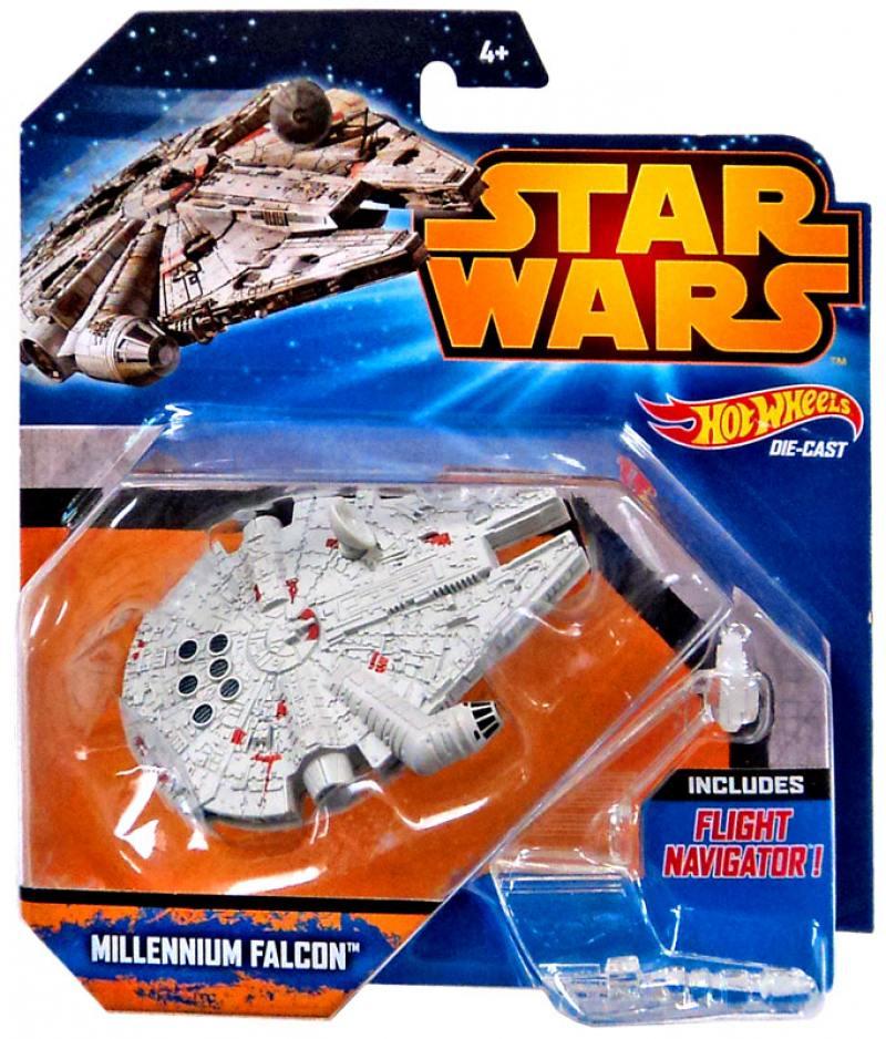 Звездолет Mattel Hot Wheels Star Wars Millenium Falcon CGW52 hot wheels модель звездного корабля boba fett s slave i cgw52 ckj63