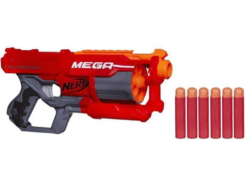 Бластер Hasbro Nerf Мега Циклон-шок для мальчика красный A9353