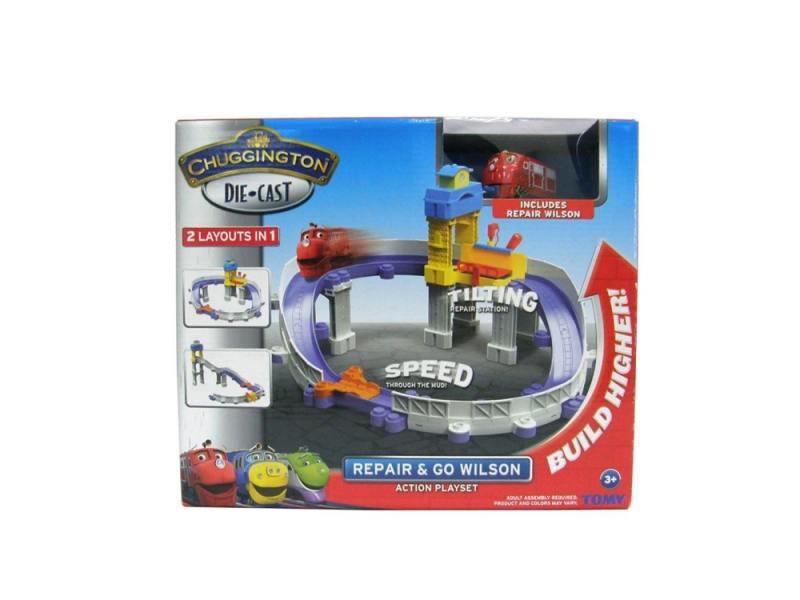 Игровой набор Chuggington Ремонтная станция с Уилсоном LC54226 chuggington набор прицепы сафари для мтамбо