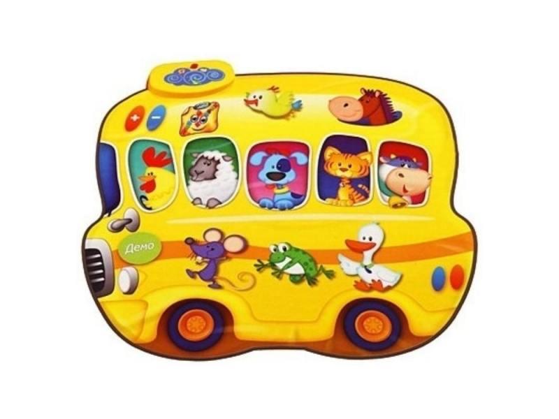 Купить Звуковой коврик Знаток Автобус-Зоопарк и Человек-Оркестр 098219, Игрушки