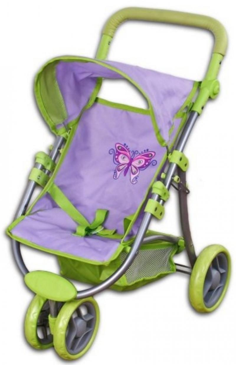 цена на Коляска прогулочная трехколесная для куклы Бабочка Mary Poppins 67132