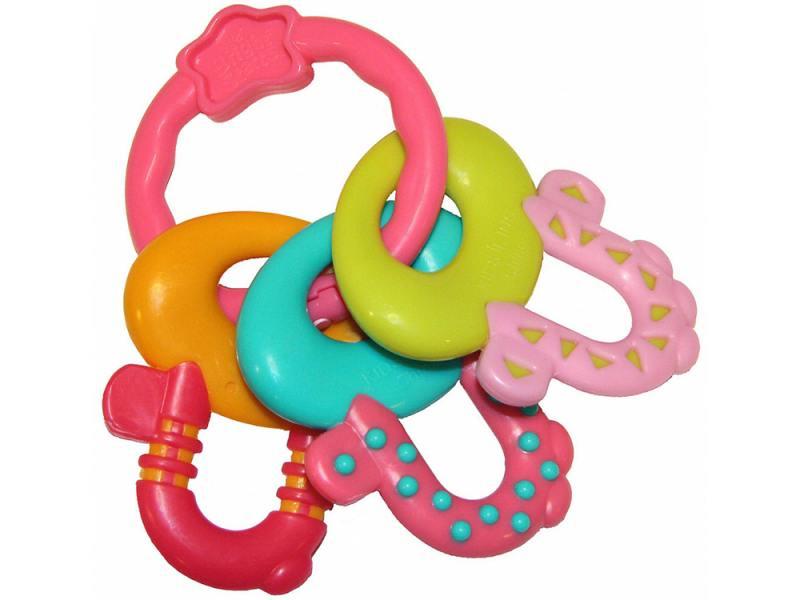 Прорезыватель Bright Starts Ключи принцессы с 3 месяцев разноцветный 8742 прорезыватель bright starts ключи для улыбки разноцветный с рождения