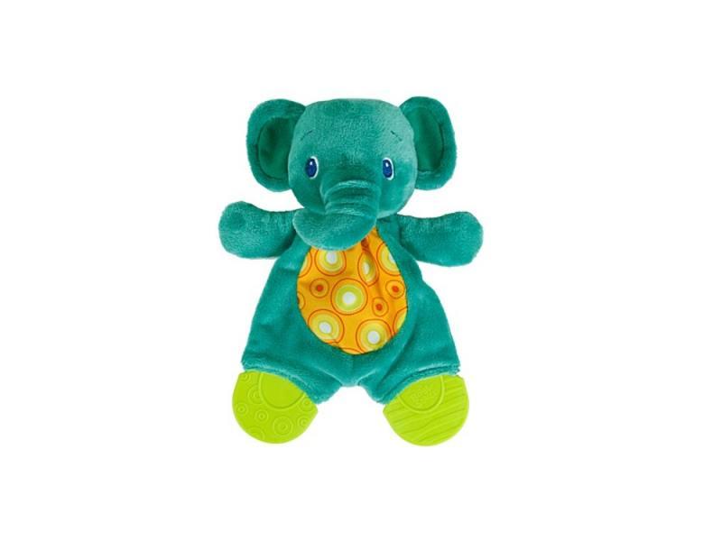 Игрушка-прорезыватель Bright Starts Самый мягкий друг Слоненок с рождения зелёный 8916-2 игрушка прорезыватель bright starts гусеничка оранжевая