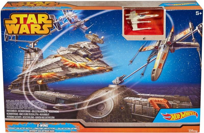 Игровой набор Hot Wheels Star Wars Битва с Имперским крейсером CGN30 игровой набор hot wheels star wars tie fighter cgn33 cmt37