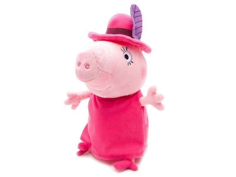 Мягкая игрушка свинка Peppa Pig Мама в шляпе 30 см розовый текстиль 29625