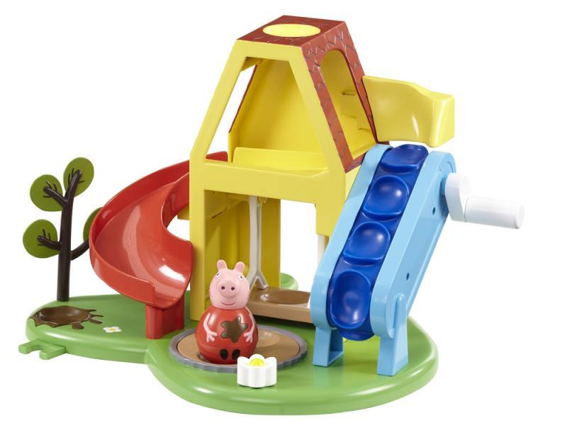 Игровой набор Peppa Pig Площадка Пеппы - неваляшки (с фигуркой Пеппы) 28795 игровой набор peppa pig пеппа в автомобиле